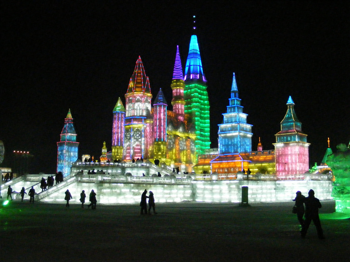 Image result for England's Glastonbury Festival, Nevada's Burning Man and China's Snow and Ice Festival in Harbin